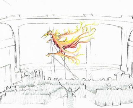 Martin P. Robinson puppet designs for Firebird