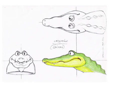 Martin P. Robinson puppet designs for Go Diego Go