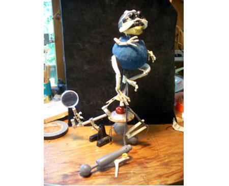 Martin P. Robinson puppet designs for Pigeon Holed