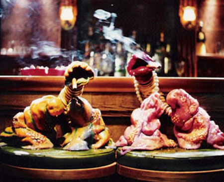 Martin P. Robinson puppet designs for Smoke Alarm