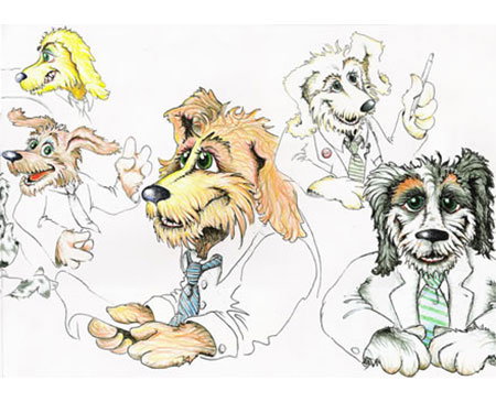 Martin P. Robinson illustrations for Van Dogs