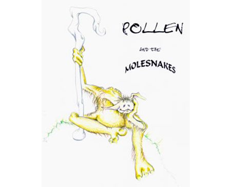 Martin P. Robinson illustrations for Pollen and the Moleskins