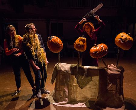 """transfixed with pumpkin vomit!"""